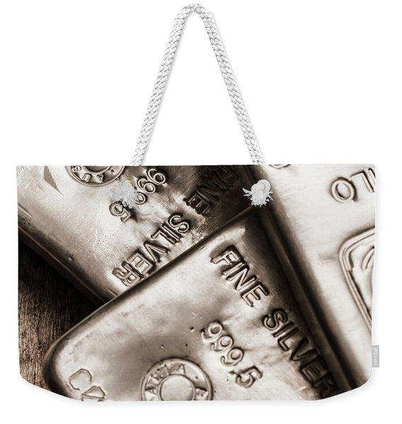 Precious Metal Art Weekender Tote Bag
