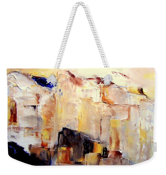 Precipice 1 Austrian Alps Imagined-dedicated  Weekender Tote Bag