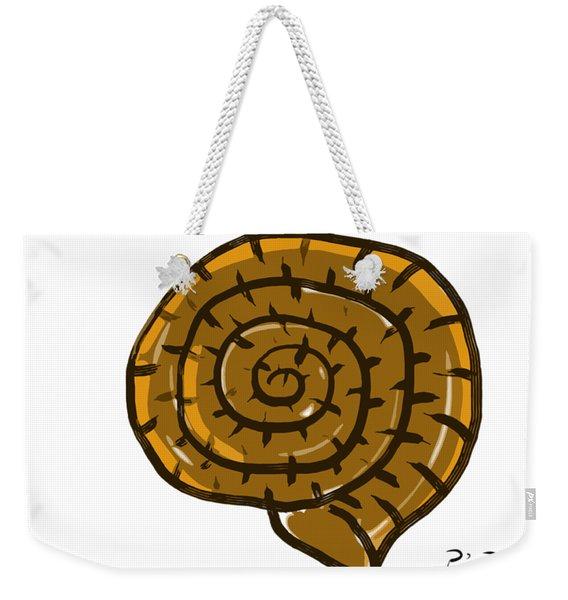 Prehistoric Shell Weekender Tote Bag