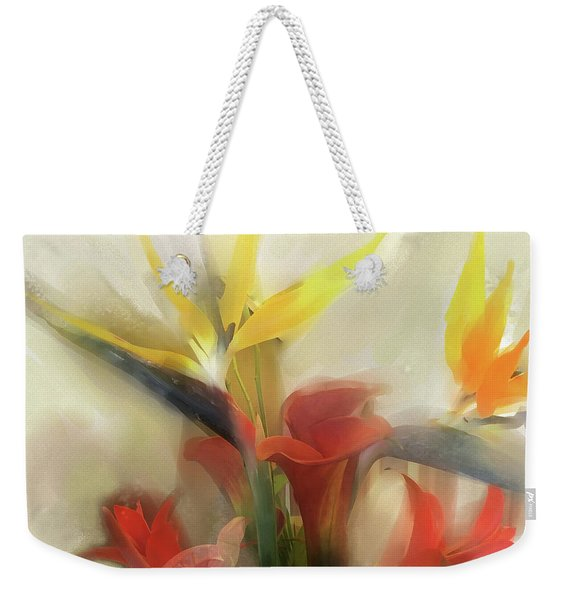 Weekender Tote Bag featuring the digital art Prelude To Autumn by Gina Harrison
