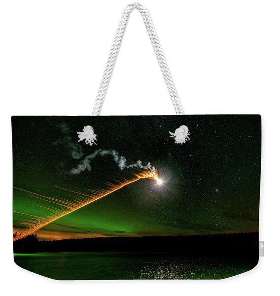 Weekender Tote Bag featuring the photograph Presence by Doug Gibbons