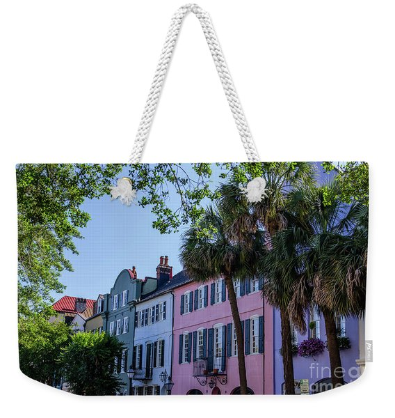 Presenting Rainbow Row  Weekender Tote Bag