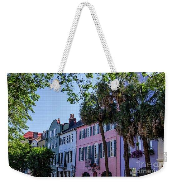 Presenting Rainbow Row  Weekender Tote Bag