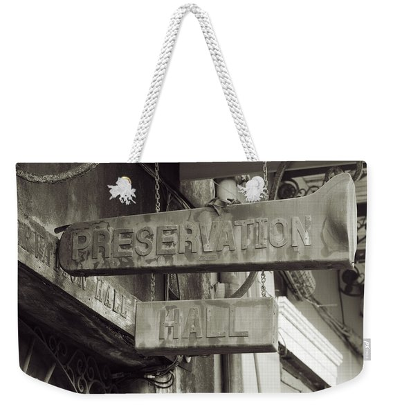 Preservation Hall, French Quarter, New Orleans, Louisiana Weekender Tote Bag