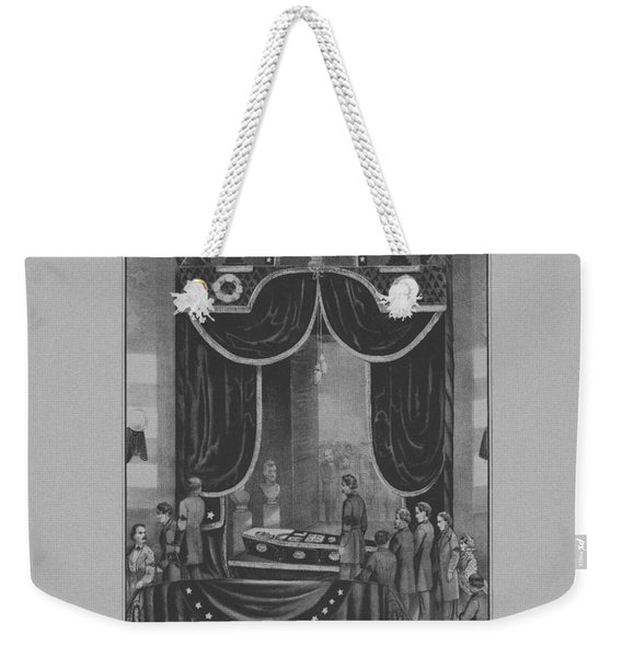 President Abraham Lincoln Lying In State Weekender Tote Bag