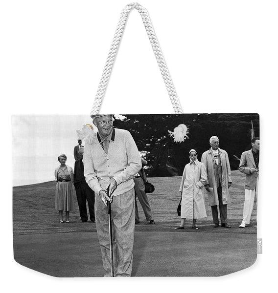 President Eisenhower Putting Weekender Tote Bag