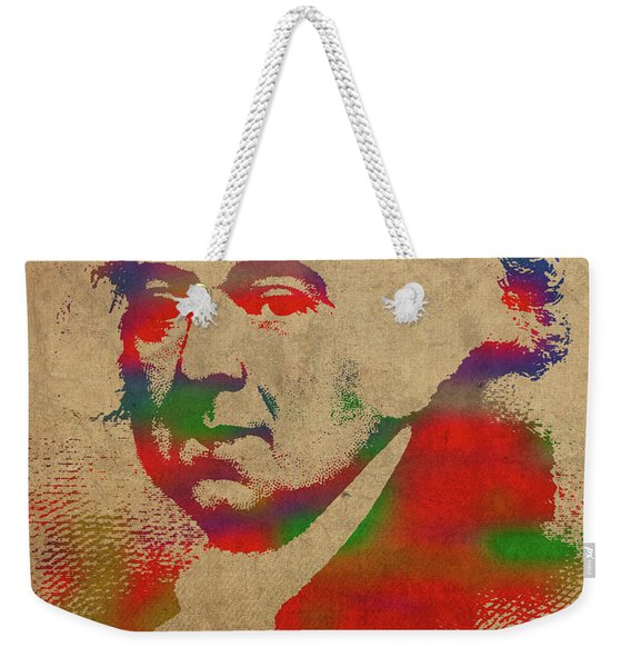 President John Adams Watercolor Portrait Weekender Tote Bag