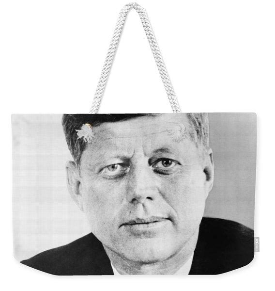 President John F. Kennedy Weekender Tote Bag
