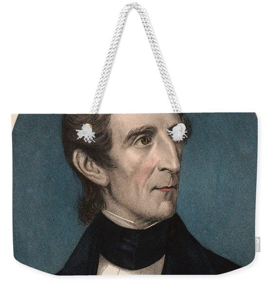 President John Tyler - Vintage Color Portrait Weekender Tote Bag