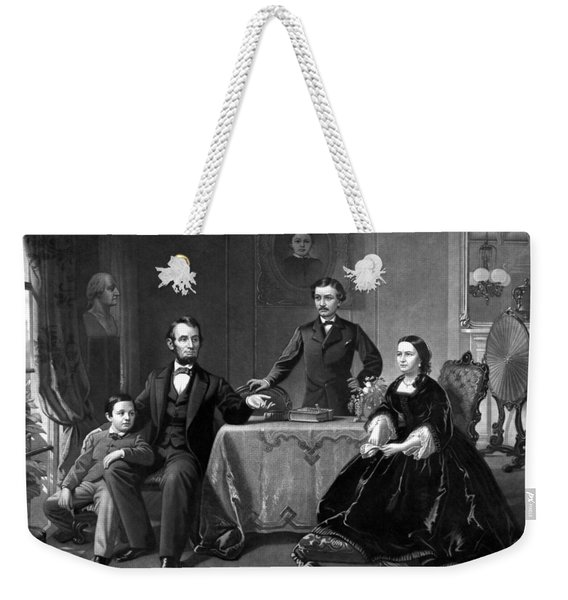 President Lincoln And His Family  Weekender Tote Bag
