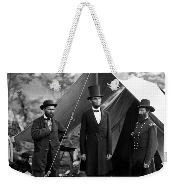 President Lincoln Meets With Generals After Victory At Antietam Weekender Tote Bag