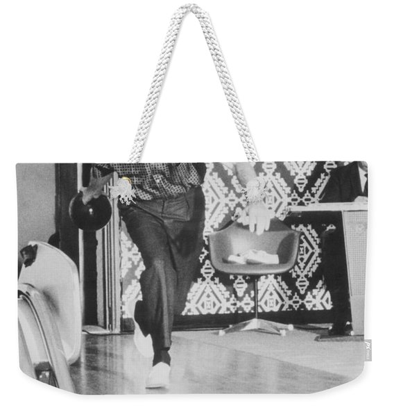 President Richard Nixon Bowling At The White House Weekender Tote Bag