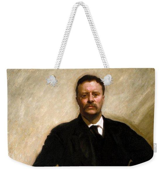 President Theodore Roosevelt Painting Weekender Tote Bag