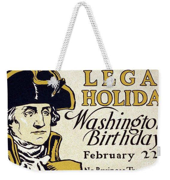 Presidents Day Vintage Poster Weekender Tote Bag
