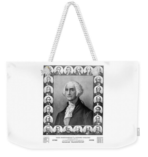 Presidents Of The United States 1789-1889 Weekender Tote Bag