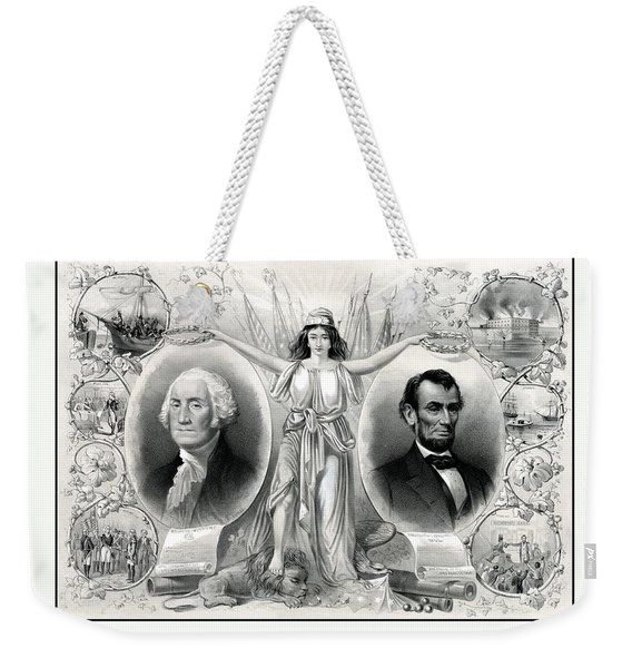 Presidents Washington And Lincoln Weekender Tote Bag