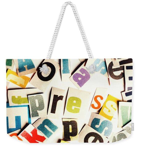 Press Reset Weekender Tote Bag