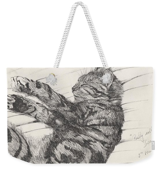 Pretty Collie Beastie Weekender Tote Bag