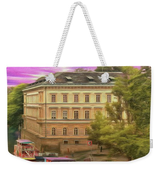 Pretty On The River - Prague Weekender Tote Bag