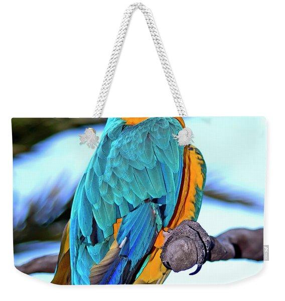 Pretty Parrot Weekender Tote Bag