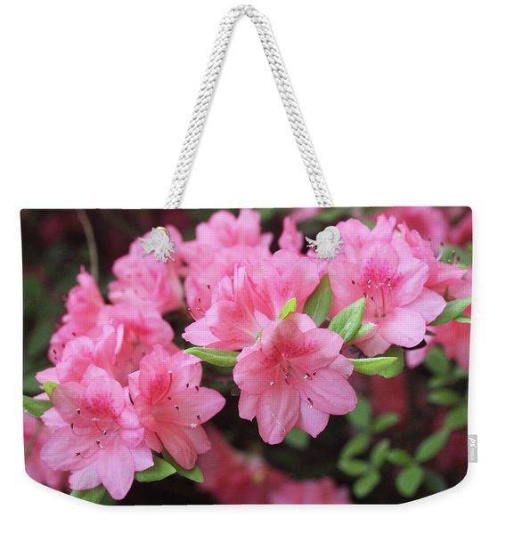 Pretty Pink Azalea Blossoms Weekender Tote Bag
