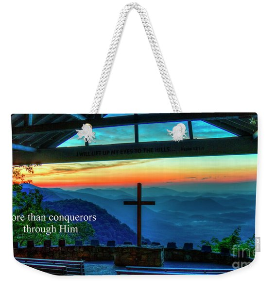 Pretty Place Chapel Through Him Art Weekender Tote Bag