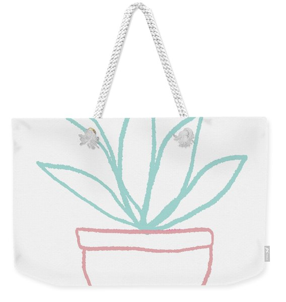 Pretty Potted Plant Illustration- Art By Linda Woods Weekender Tote Bag