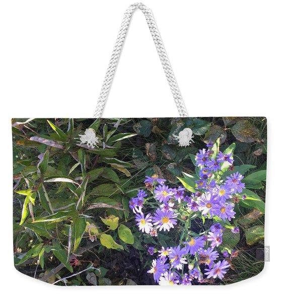 Pretty Purple Flowers Weekender Tote Bag