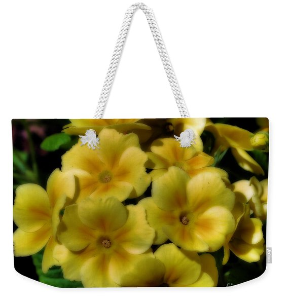 Pretty Yellow Primrose Weekender Tote Bag