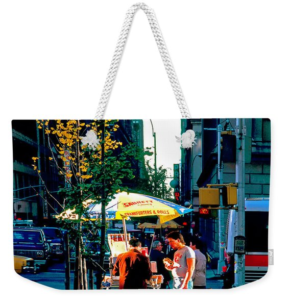 Hot Dog Stand Nyc Late Afternoon Ik Weekender Tote Bag