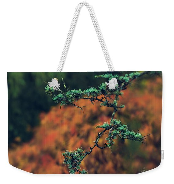 Prickly Green Weekender Tote Bag