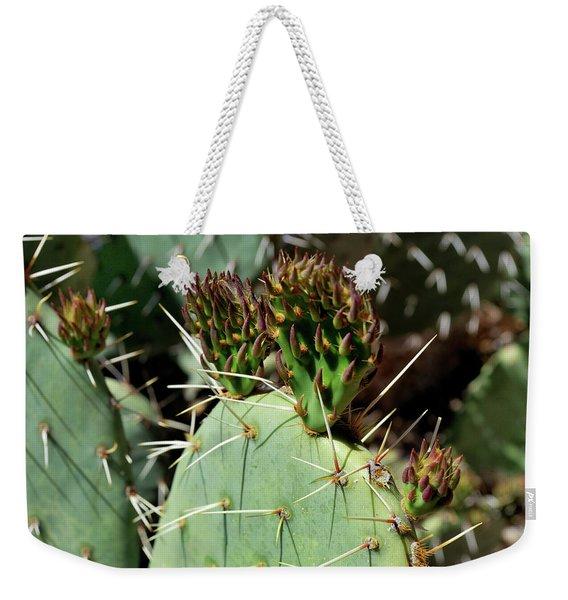 Prickly Pear Buds Weekender Tote Bag