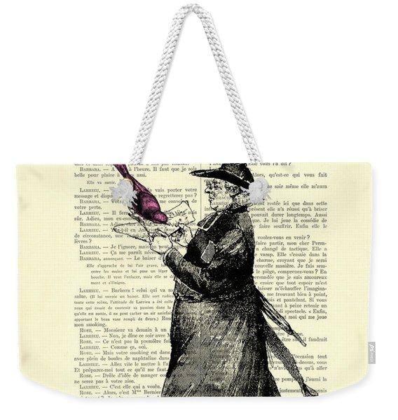Priest And Birds Weekender Tote Bag