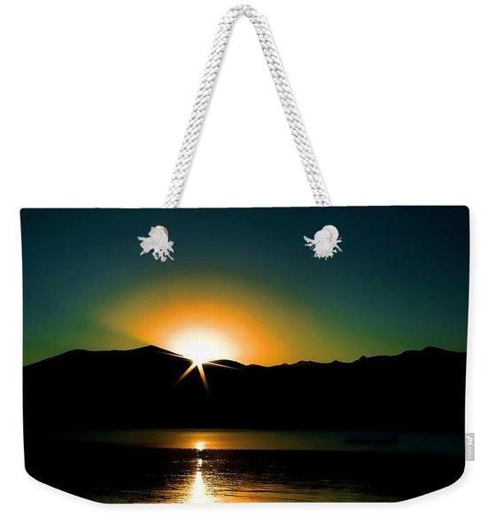 Priest Lake Sunrise Weekender Tote Bag