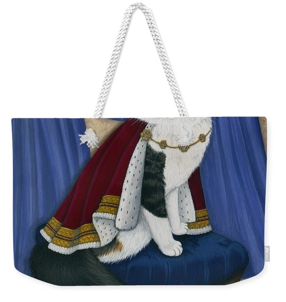 Prince Anakin The Two Legged Cat - Regal Royal Cat Weekender Tote Bag