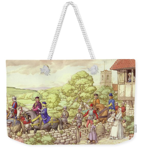 Prince Edward Riding From Ludlow To London Weekender Tote Bag