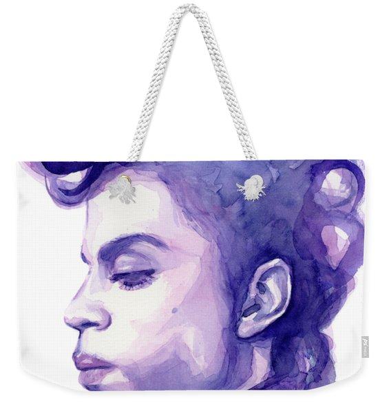 Prince Musician Watercolor Portrait Weekender Tote Bag