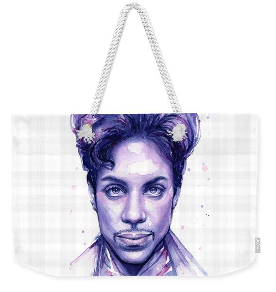 Prince Purple Watercolor Weekender Tote Bag