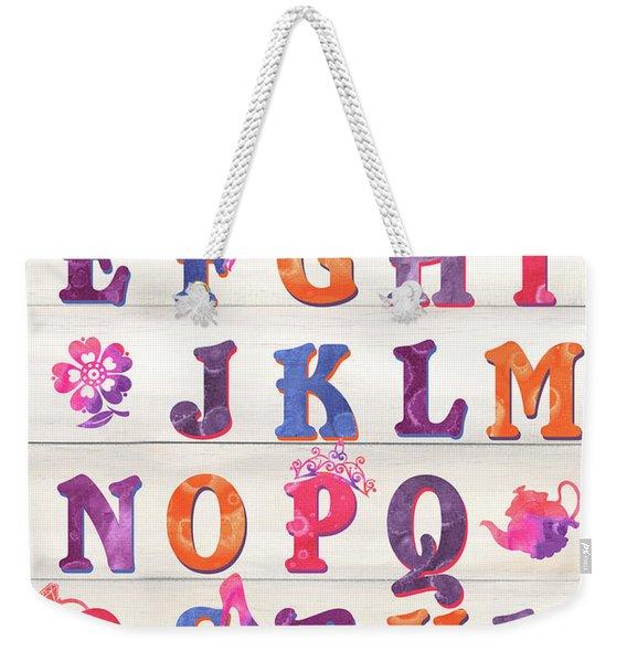 Princess Alphabet Weekender Tote Bag
