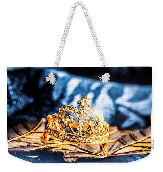 Princess Cut Diamond Ring Weekender Tote Bag