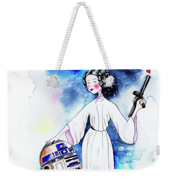 Princess Leia Illustration Weekender Tote Bag