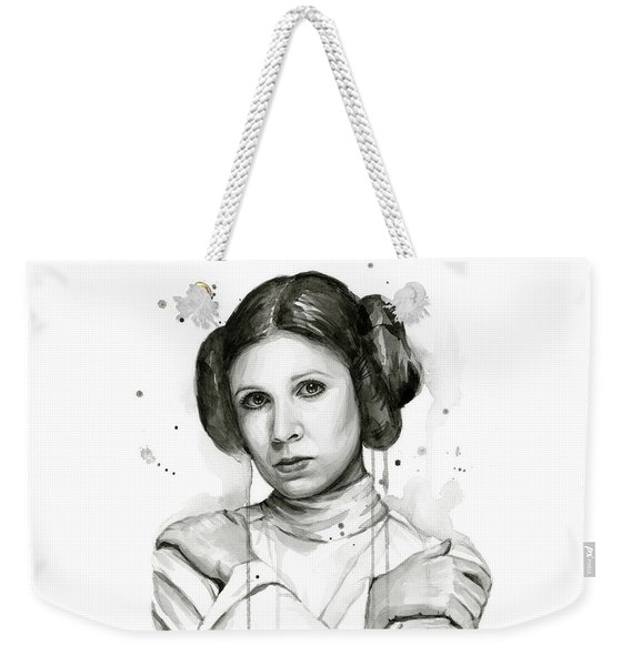 Princess Leia Portrait Carrie Fisher Art Weekender Tote Bag