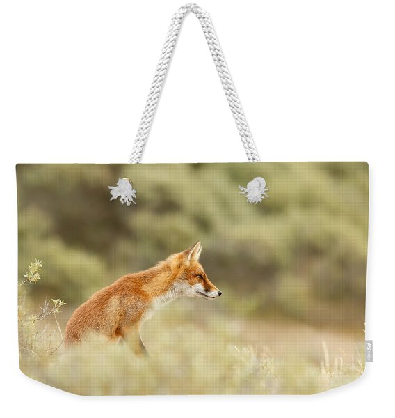 Princess Of The Hill - Red Fox Sitting On A Dune Weekender Tote Bag