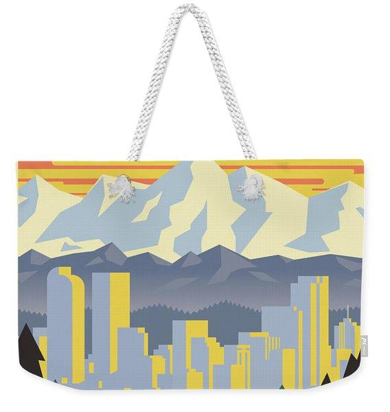 Denver Poster - Vintage Travel Weekender Tote Bag