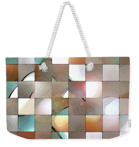 Weekender Tote Bag featuring the digital art Prism 1 by Gina Harrison