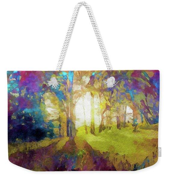 Prismatic Forest Weekender Tote Bag