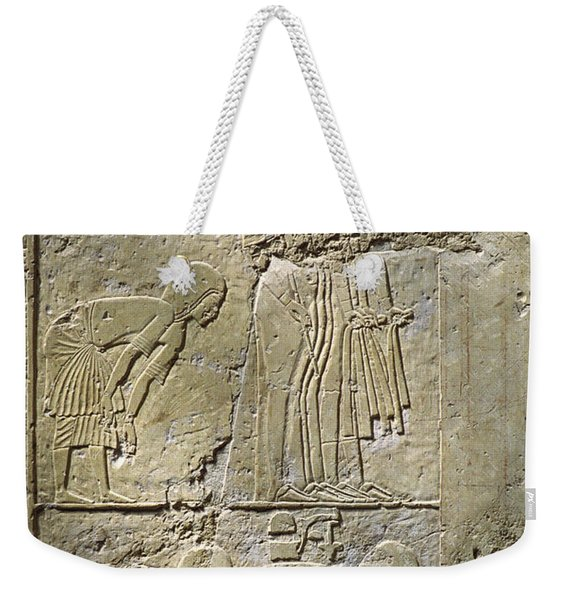 Private Tombs -painting West Wall Tomb Of Ramose T55 - Stock Image - Fine Art Print - Thebes Weekender Tote Bag