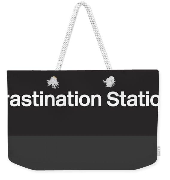 Procrastination Station- Art By Linda Woods Weekender Tote Bag