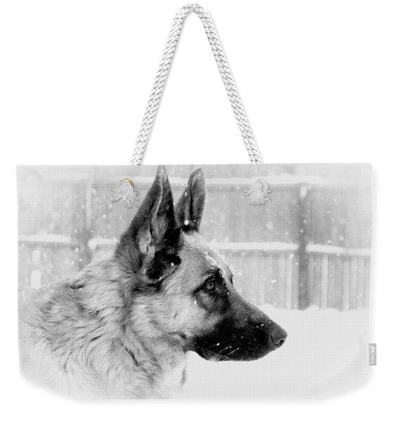 Profile Of A German Shepherd Weekender Tote Bag