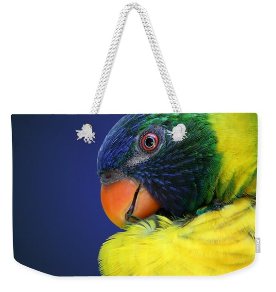 Profile Of A Lorikeet Weekender Tote Bag